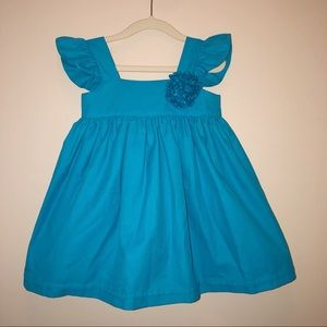 New Handmade Blue Flutter Sleeve Dress